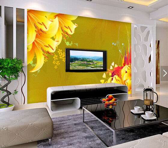 3D Orange Lily Flowers 658 Paper Wall Print Wall Decal Wall Deco Indoor Murals