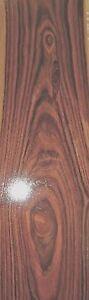 "Rosewood (Kingwood) wood veneer 3"" x 36"" raw no backing 1/28th"" thickness ""A"""