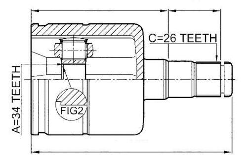 GELENKSATZ ANTRIEBSWELLE// INNEN VW PASSAT B6 05- TIGUAN 07- CC 08- //LINKS//