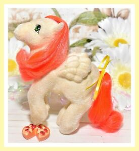 My-Little-Pony-MLP-G1-Vtg-So-Soft-PARADISE-Flocked-Fuzzy-Palm-Trees-Pegasus