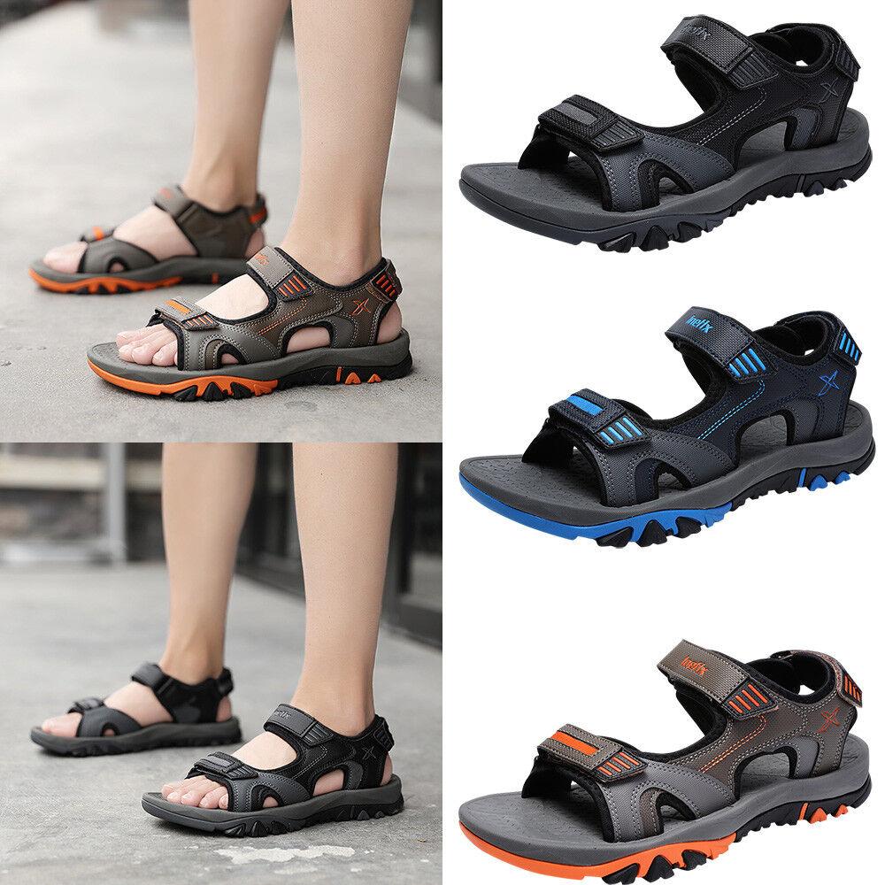 Men's Genuine Leather Beach Summer Sports Sandals Waterproof Open Toe shoes New