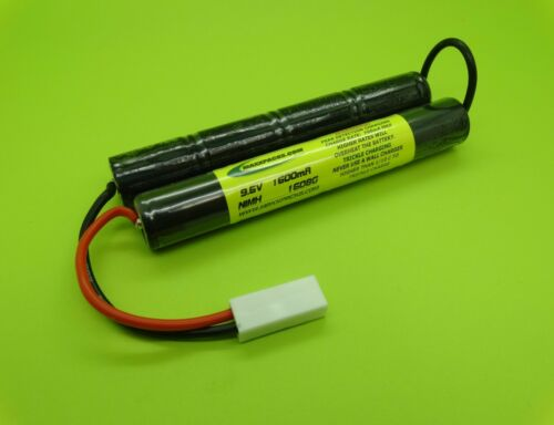 MADE IN USA TWO 9.6V 1600 Mini Battery Packs for AIRSOFT TM M4 ICS M4