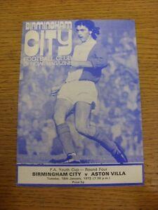18011972 Birmingham City Youth v Aston Villa Youth FA Youth Cup  Trusted se - Birmingham, United Kingdom - 18011972 Birmingham City Youth v Aston Villa Youth FA Youth Cup  Trusted se - Birmingham, United Kingdom