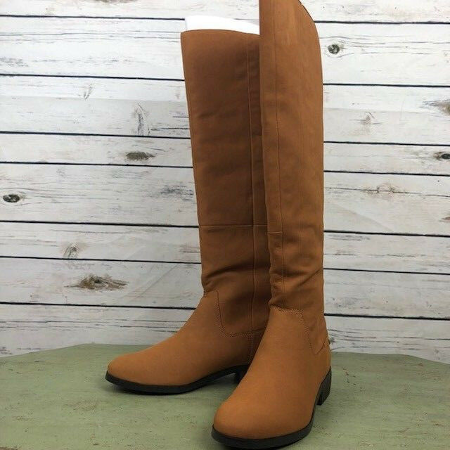 NIB  Sole Society Andie Over-the-Knee Tall Riding Boot Deep Cognac Size 8