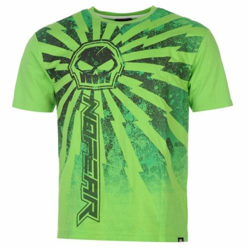 Guys  No Fear Casual Short Sleeves Moto Graphic T Shirt Top Size S-XXL Big Sale