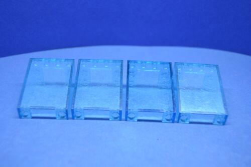 LEGO 4 x Windschutzscheibe transparent hellblau 3x4x4 Auto 4872 Fenster