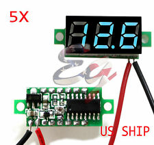 5X Mini Blue DC 0-30V LED Display Digital Voltage Voltmeter Panel For Breadboard