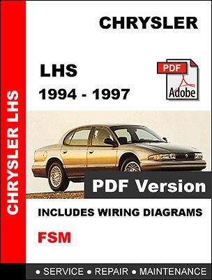 Chrysler Lhs 1994 1995 1996 1997 Service Repair Workshop Manual
