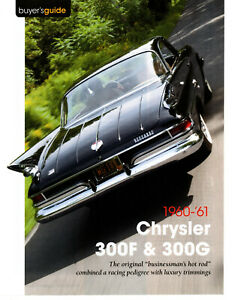 1960-1961 CHRYSLER 300F & 300G ~ GREAT 6-PAGE BUYERS GUIDE ARTICLE / AD