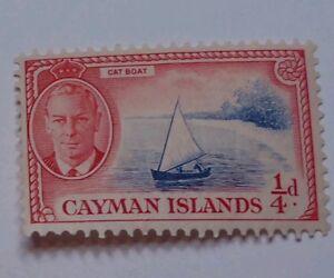 CAYMAN-ISLANDS-SCOTT-122-1950-POSTAGE-STAMP-1-4d-Mint-Never-Hinged-Original-Gum