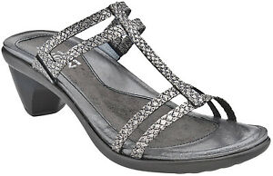 bf4505c6653f Image is loading Naot-Loop-Grey-Lizard-Leather-Sandals-42-11