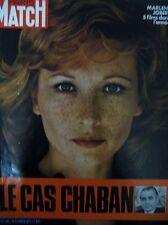 PARIS MATCH 1189 de 1972 MARLENE JOBERT 5 FILMS CHABAN DELMAS BEATELS SKHIRAT