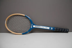 competitive price bec96 70a0b Details about Vintage Wilson Stan Smith Topspin Strata-Bow Wooden Tennis  Racquet 4 5/8