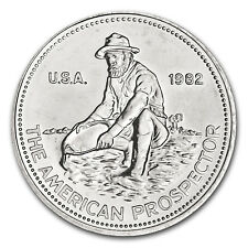 1982 1 oz Silver Engelhard Prospector Round - E Reverse - SKU #66554