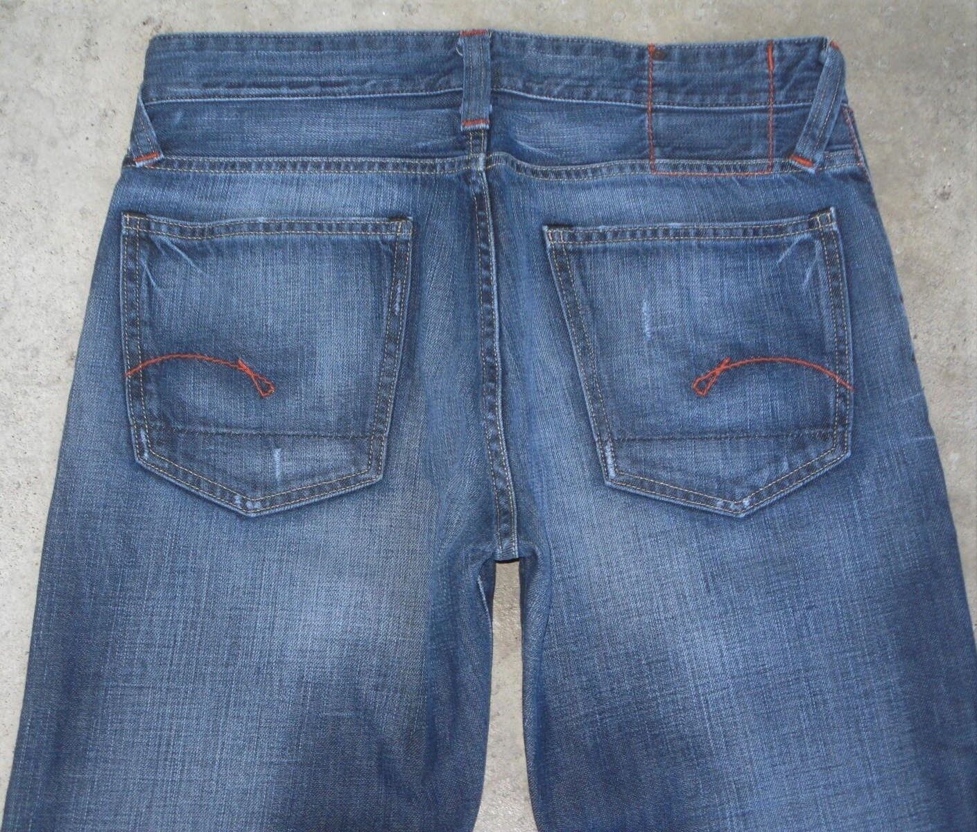 G - Star Raw Jeans Mens Core Regular 100% Cotton Distressed Sz 33 X 30 Relaxed
