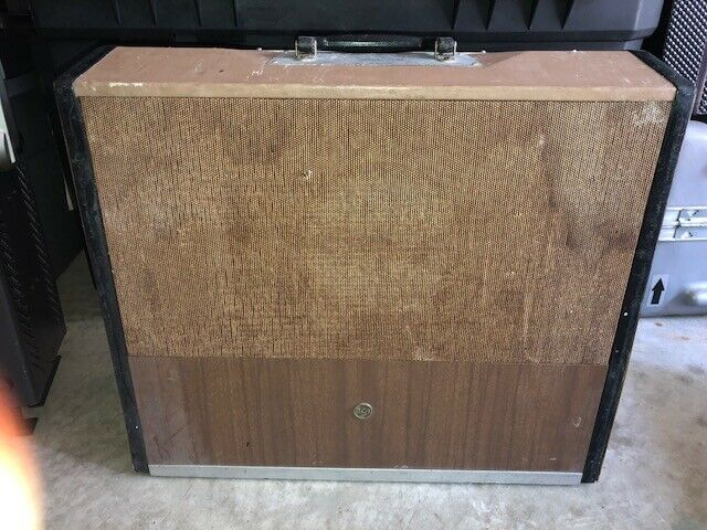 Vintage RCA Electronic Lectern Type SPL-8M With 1950's Ampex H-1390 Micrephone