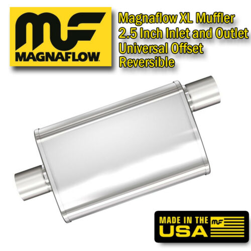 "MagnaFlow XL 3 Chamber Stainless Steel Turbo Muffler 2.5/"" Center Offset 13216"