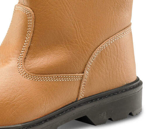 Click Rigger Boot Unlined//Fur Lined Leather Safety Steel Toe Cap Midsole