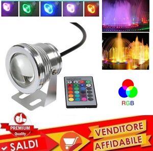 FARETTO-FARO-LED-RGB-SUBACQUEO-PISCINA-FONTANA-TELECOMANDO-IMPERMEABILE-nuovo