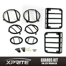 Light Guard Kit Headlight Tail Lights Side & Front Turn Signal for Jeep Wrangler