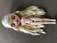 OOAK Blythe CUSTOM nude fortune Body doll bambola + HAIR reroot!!!