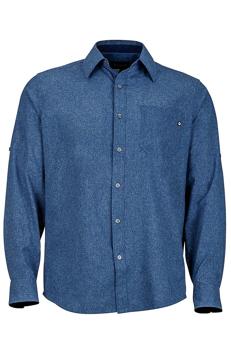 Marmot Men's Windshear Long Sleeve (LS) Shirt - Vintage Navy