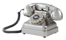 Crosley Kettle Classic Desk Phone - Brushed Chrome CR62-BC New
