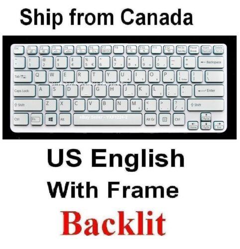 Keyboard for SONY SVE14A15FDW SVE14A25CDW SVE14A27CDW US White