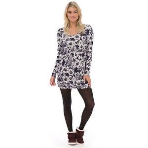 Sleeved Tunic new Blue Dress 361 Top h61 Freckle Long Womens Jersey 5w Animal UqxOZ8U