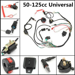 Universal ATV Wiring Harness Loom Solenoid Coil Rectifier CDI 50 70 90 110  125cc | eBayeBay