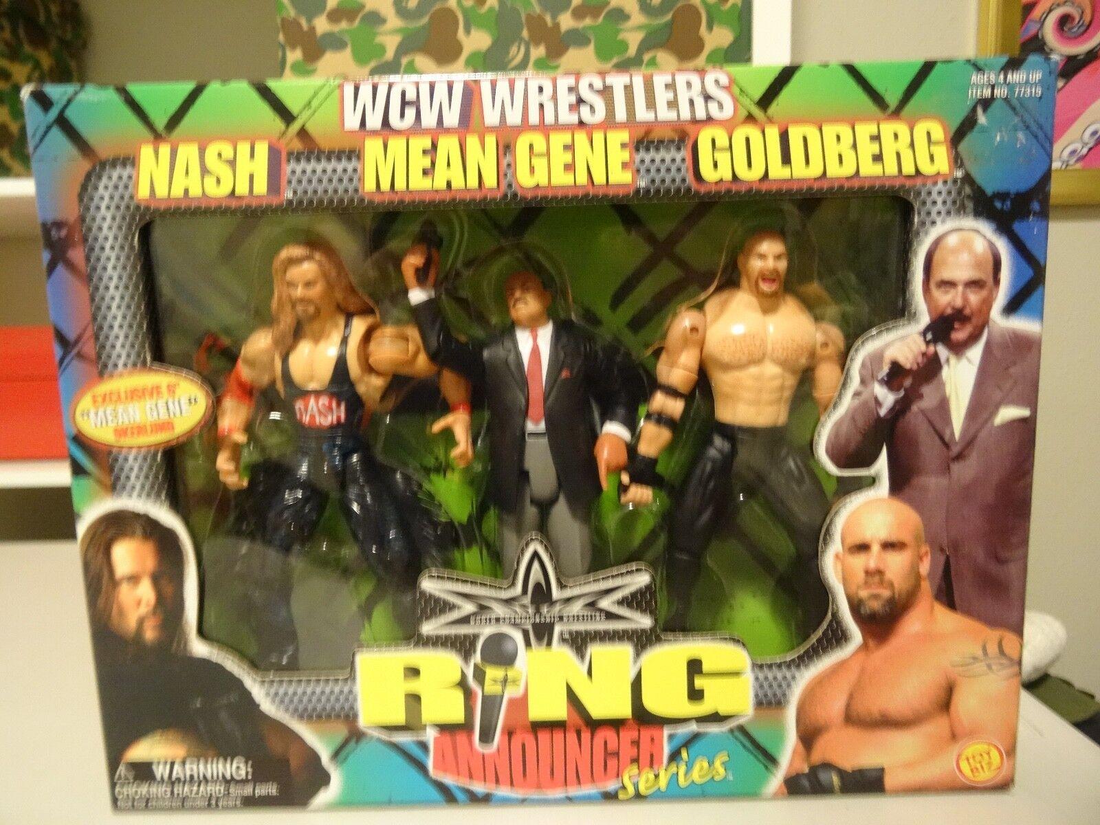 Toy BizRing Announcer SeriesWCWNASH/MEAN GENE/GOLDBERGNIB 1999