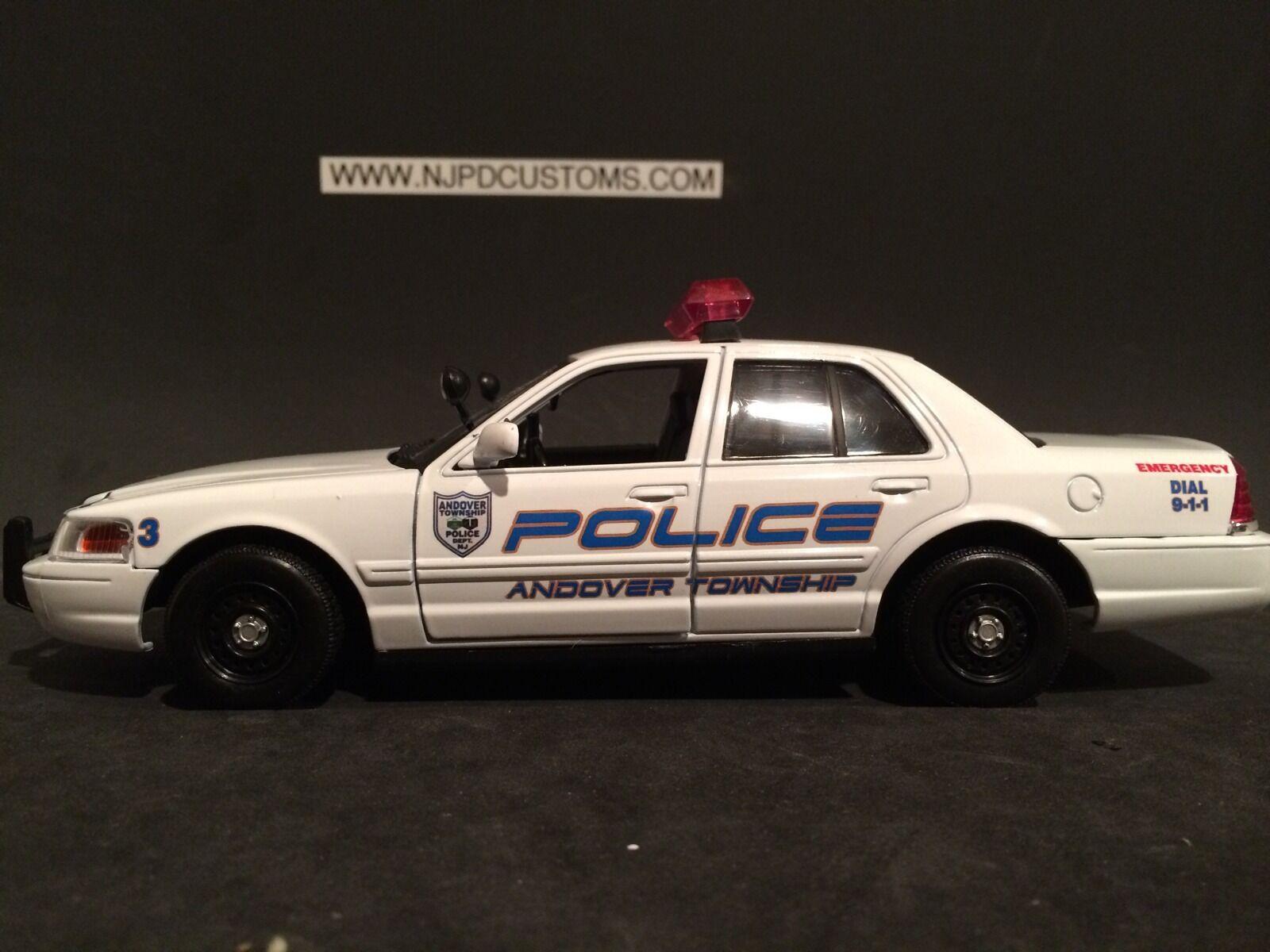 Andover Township NJ Police 1 24 Scale Replica Ford Crown Victoria