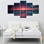 thumbnail 4 - Yatsen Bridge 5 Piece Wall Art for Living Room Red Aurora Appears in The Ocean S