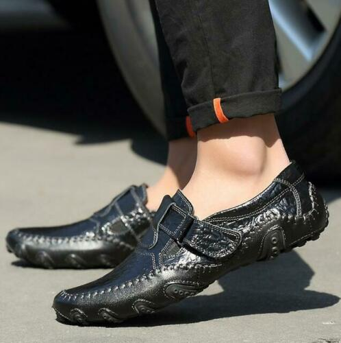 Men/'s Leather Casual Loafers Driving Moccasin Breathable Slip On Oxfords Shoes