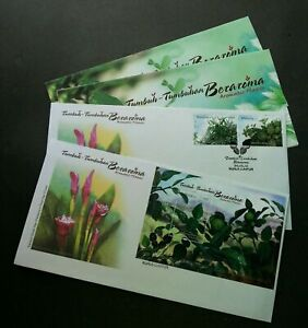 SJ-Aromatic-Plants-Malaysia-2012-Fruit-Tree-Flower-Food-FDC-pair-scented