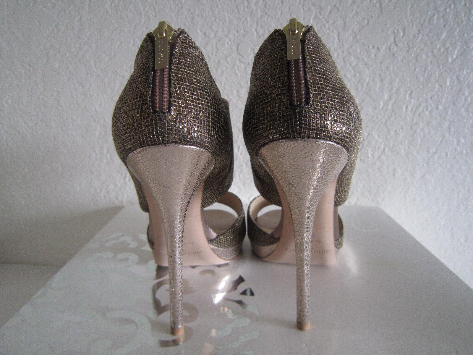 Jimmy Choo 'Private' Cuff Bronze Sz Glitter Fabric Sandal  Sz Bronze 38.5 US 8 2a36f3