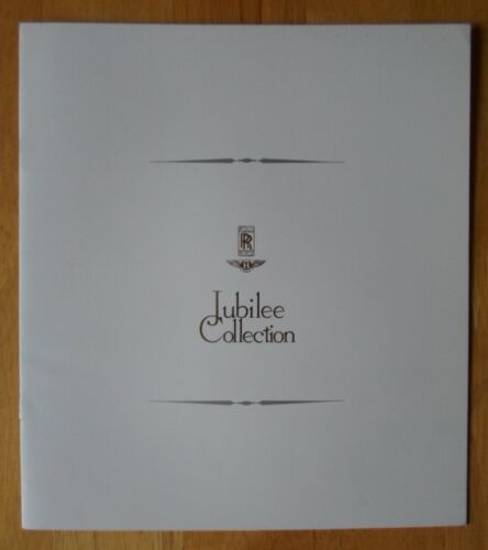 BENTLEY ROLLS ROYCE Jubilee Collection Pre-Owned Cars 1990 Publicity Brochure