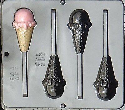 ICECREAM CONE LOLLY POP mold Chocolate Candy soap favors ice cream cake
