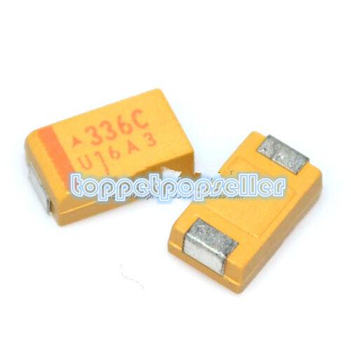 10Pcs D Type 7343 336C 16V33UF SMD Tantalum Capacitor