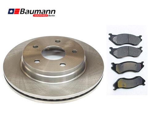2 x Bremsscheiben /& Keramik Bremsklötze vorne Dodge Ram 1500 2002-2005