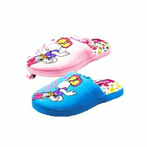 Girls Blue Disney Daisy Duck Slippers With Floral Inner vOwY5f0V8d