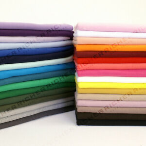 100% Knitted Jersey Cotton Stretch Interlock Jersey Fabric Material - Made in UK