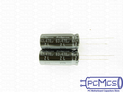5 Pcs Rubycon ZL series 63V 470UF High ripple current Low impedance Capacitor