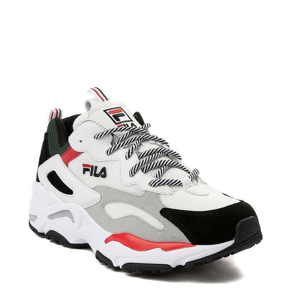 Fila Ray Tracer Athlétique Chaussure Blanc Noir Rouge | eBay