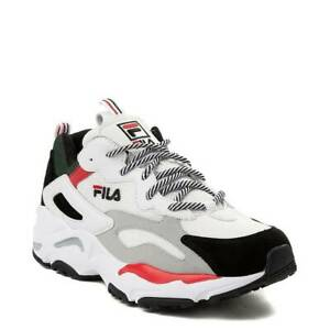 Details about Fila Ray Tracer Athletic Shoe White Black Red NEW Mens