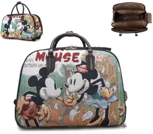 New Holiday Holdall Chariot Weekend Sac Mickey Mouse Bagage Main Voyage Sac à main