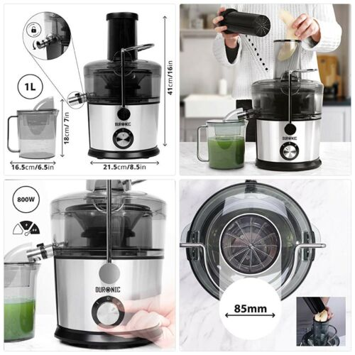 Duronic JE7C Whole Fruit juicer, Stainless-Steel and Plastic