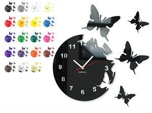 Orologio da parete moderno farfalle round 15 colori for Orologio da muro farfalle