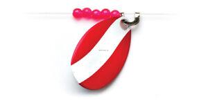 Neu Rot/weiß Lr374 Little Joe Heart-of-steel Spinner