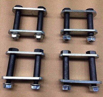 "RV Trailer Axle 3 1//8/"" Shackle Bolt Kit For 1 3//4/"" Wide Leaf Springs"